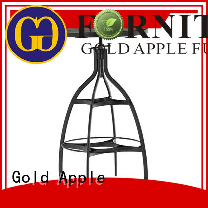 Gold Apple metal wire metal bar table commercial galvanized frame