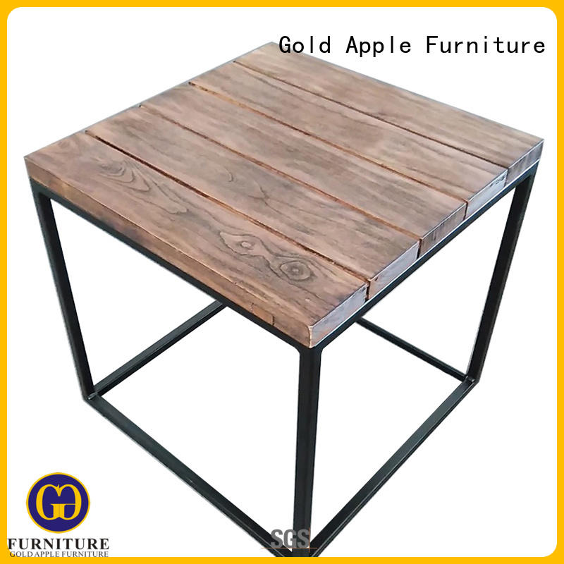 furniture wood design OEM modern wood coffee table Gold Apple