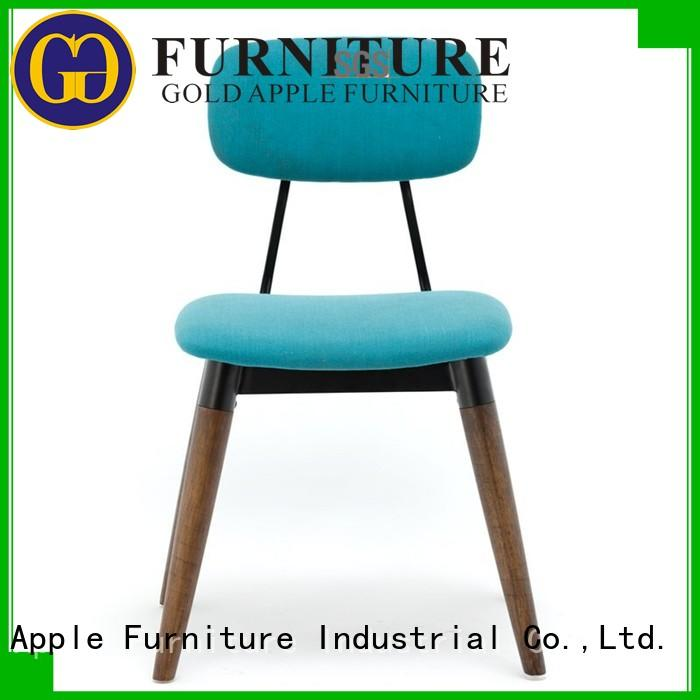 Gold Apple Brand coffee dining modern custom upholstered dining chairs with metal legs