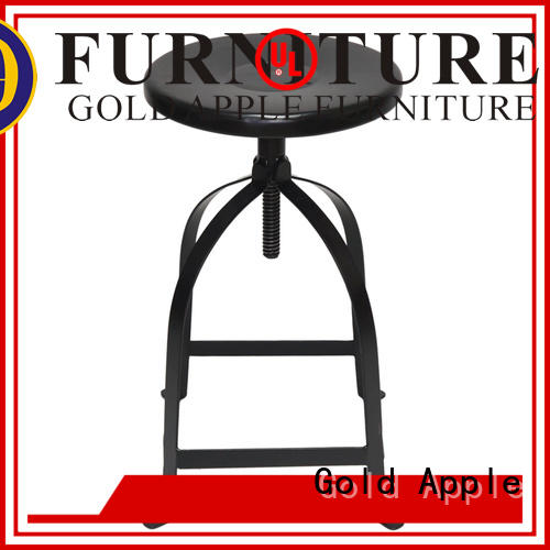 Gold Apple vintage outdoor swivel bar stools adjustable for kitchen