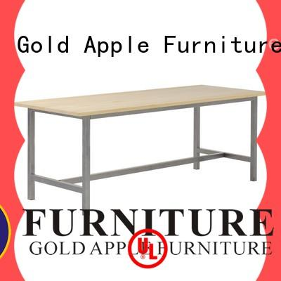 Gold Apple luxury long wood dining table at discount