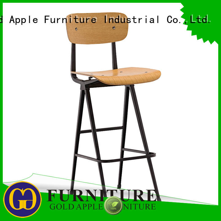 Gold Apple high-end wood swivel counter stools elegant for kitchen