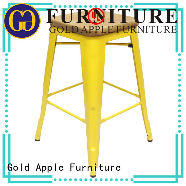 Gold Apple commercial kitchen counter stools with backs modern bar furniture