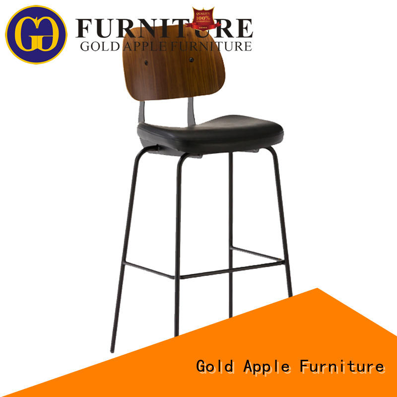Gold Apple metal bar chair upholstered swivel bar stools casual for cafe