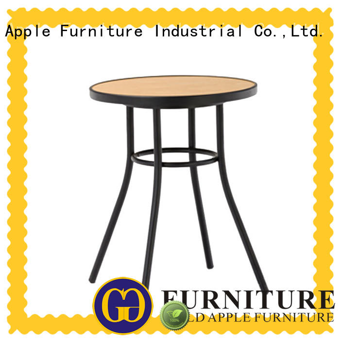 chic design dark wood round dining table high-quality industrial for catering