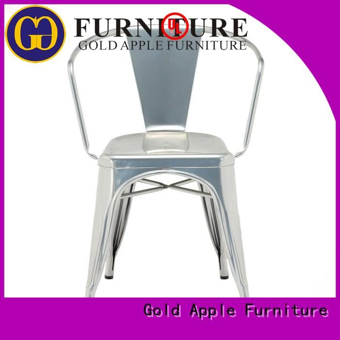 Gold Apple bistro black patio chairs outdoor cafe restaurant furniture
