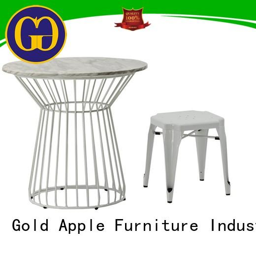 Gold Apple round outdoor round table and chairs adjustable height powder coating