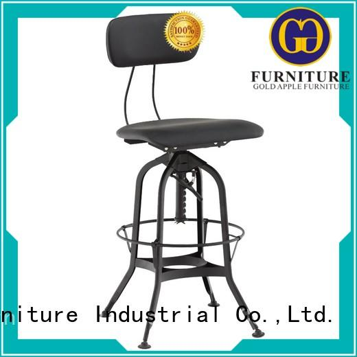 Gold Apple upholstered counter height bar stools adjustable for cafe