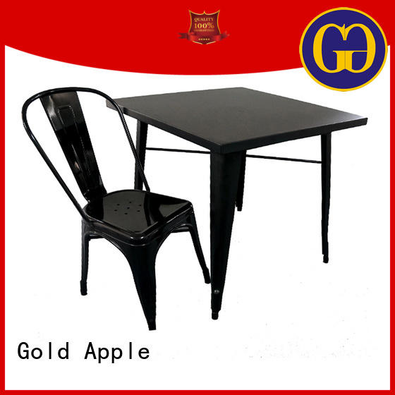 Gold Apple wooden 6 person dining table set round shape chic design