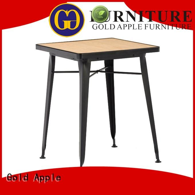 Gold Apple luxury wood dining tables for sale commercial for restaurant