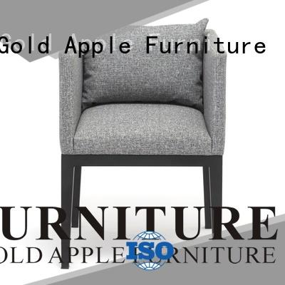 Gold Apple dining chair leather dining chairs with metal legs newest style for restaurant
