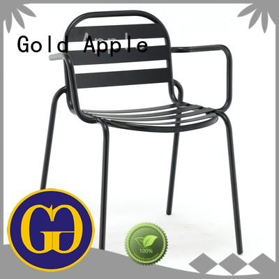 Gold Apple plywood industrial metal chairs colourful without armrest