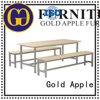 Gold Apple shop outdoor table and chair set commercial furniture