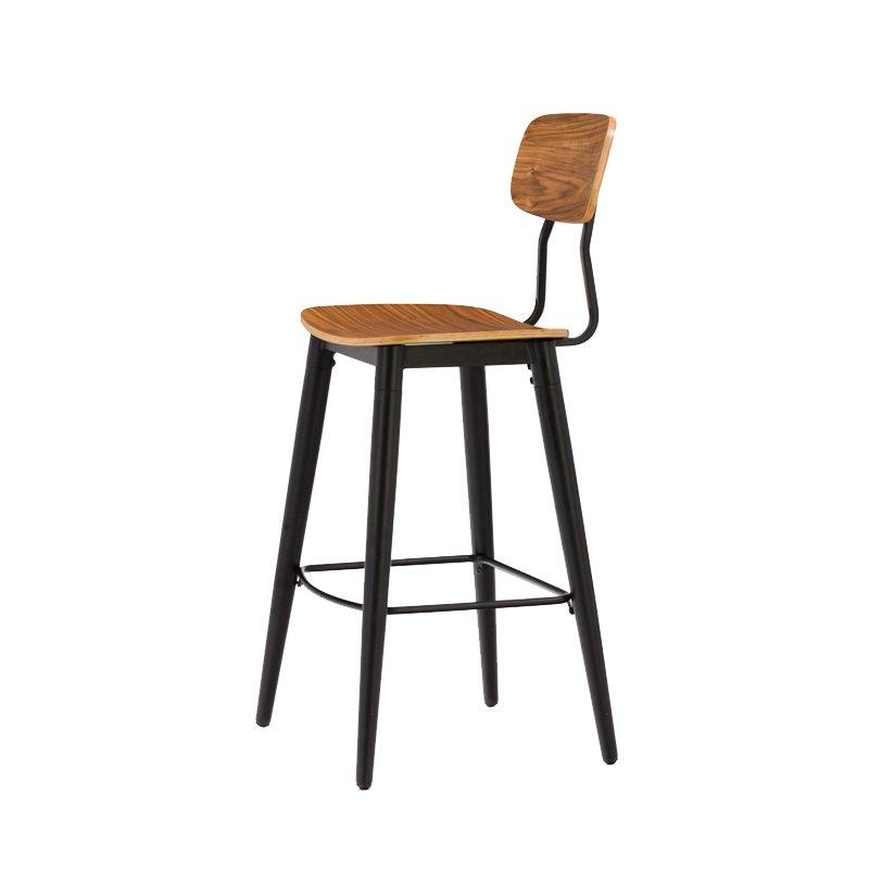 Gold Apple low-price wood top bar stools elegant with backrest-3