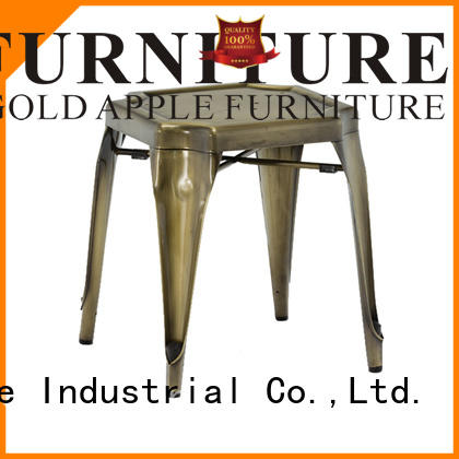Gold Apple low price modern low stools rose gold restaurant chairs
