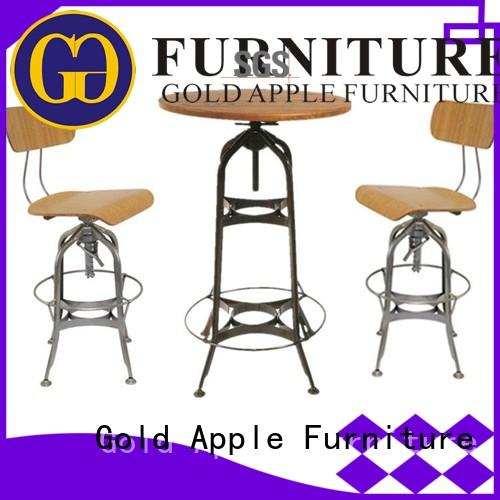 industrial bar dining table set popular for wholesale Gold Apple