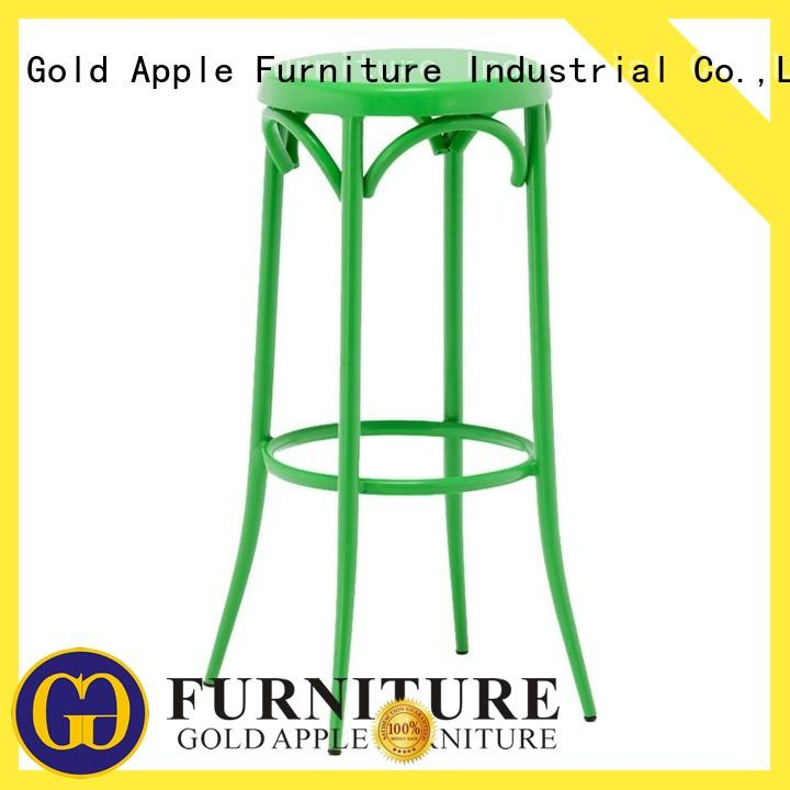 industrial bar stool chairs with arms vintage dining room Gold Apple