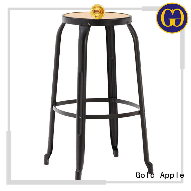 Gold Apple promotional wooden bar stools with arms commercial restaurant
