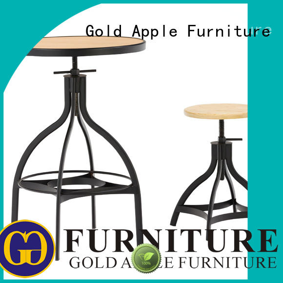 outdoor bar dining table set colorful all weather proof Gold Apple