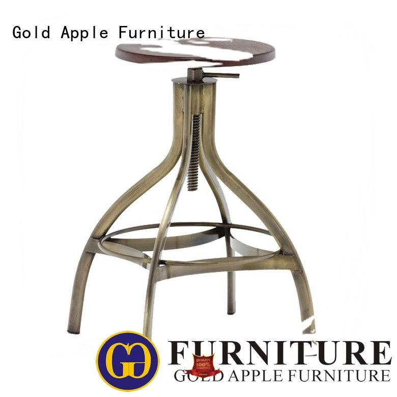 Gold Apple plywood wooden stools for sale wooden seat with backrest