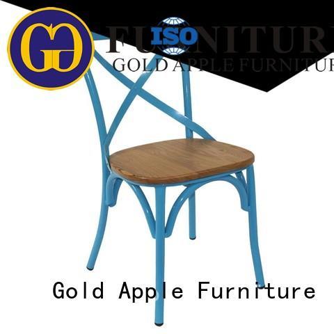Gold Apple european style wooden chair with armrest modern design for restaurant