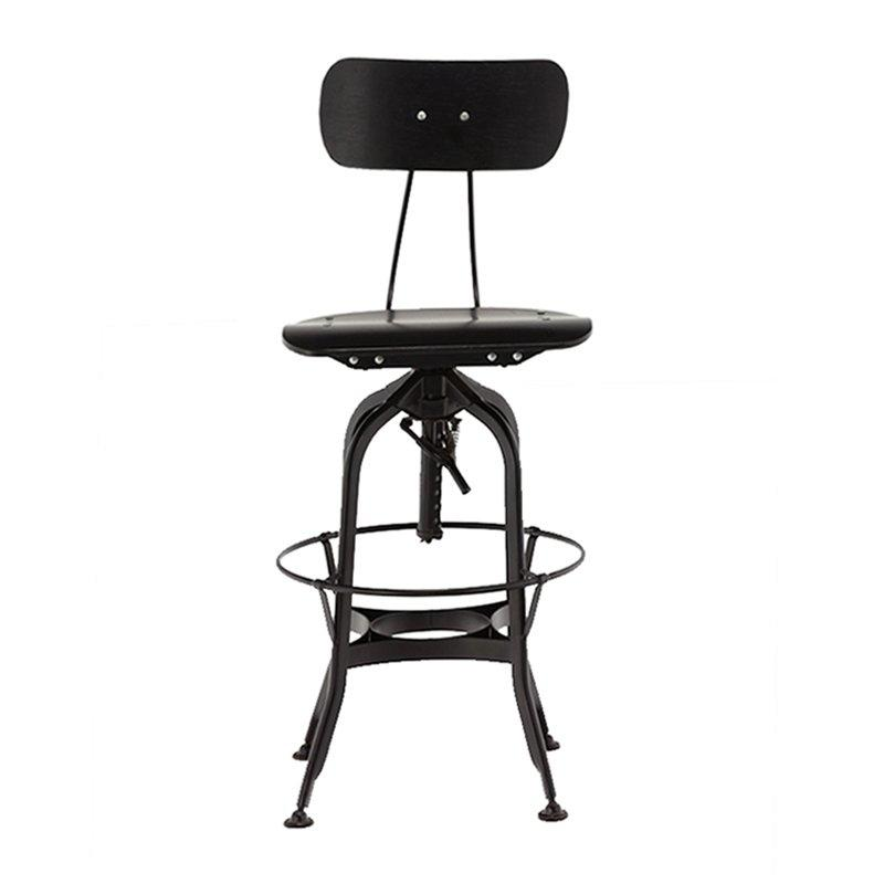 Gold Apple high-end wood stools with backs wooden seat for restaurant-1