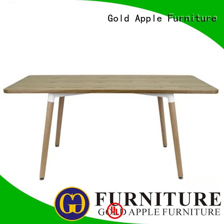 luxury small round wood dining table comfortable for catering