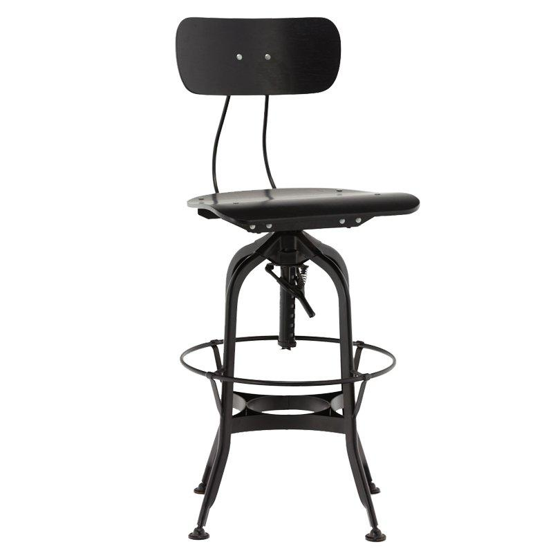Gold Apple high-end wood stools with backs wooden seat for restaurant-2