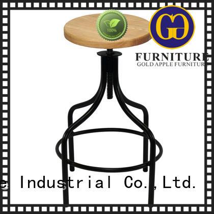 Metal Bar Stools with Wooden Seat GA603C-65STW
