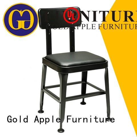 Gold Apple adjustable height large metal dining chairs plywood without armrest