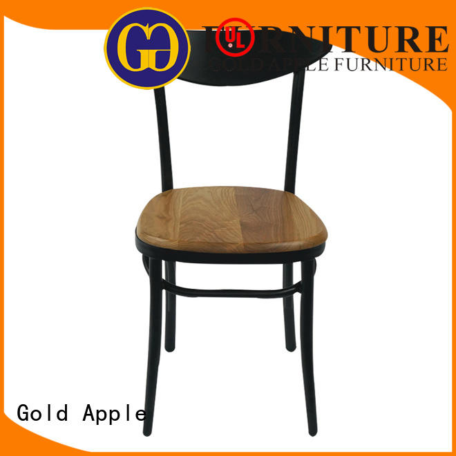 Gold Apple curved industrial metal chairs available french style