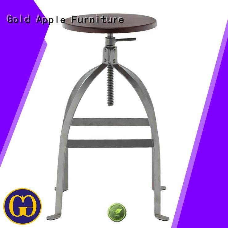 plywood wood and metal stools high-end elegant for bar