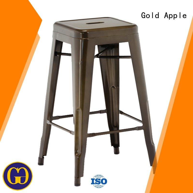 Gold Apple french style high bar stool chairs stackable dining room