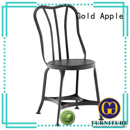 Gold Apple metal frame aluminum patio chairs stackable restaurant furniture