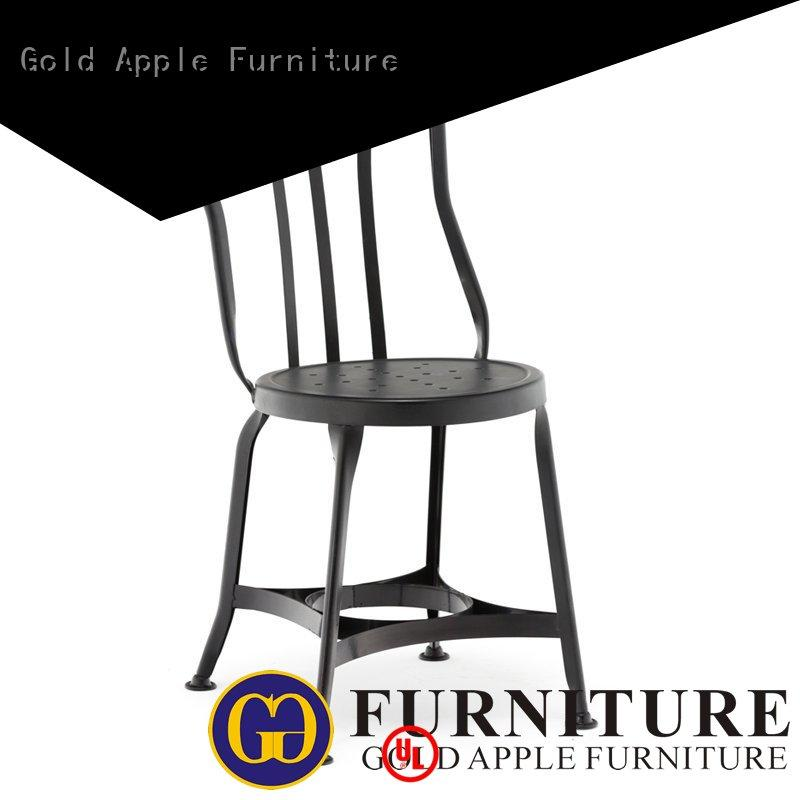 Gold Apple adjustable height black metal bistro chairs dining chairs shelf stack