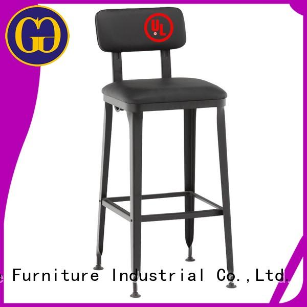 Gold Apple modern upholstered counter height bar stools industrial for restaurant