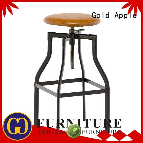 wood upholstered bar stools with backs heavy for cafe Gold Apple