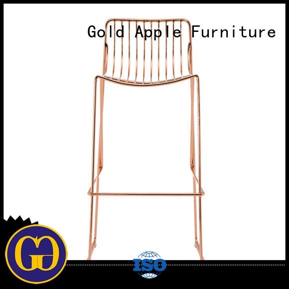 Gold Apple comfortable outside bar stools for garden