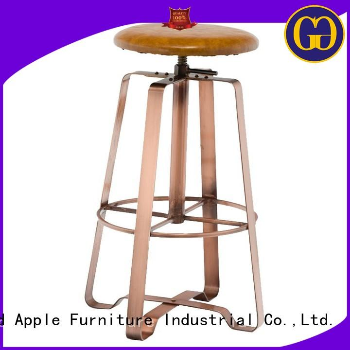 Gold Apple antique swivel counter height stools powder coating for kitchen