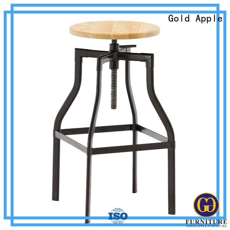 Gold Apple backless 24 inch swivel bar stools modern for wholesale