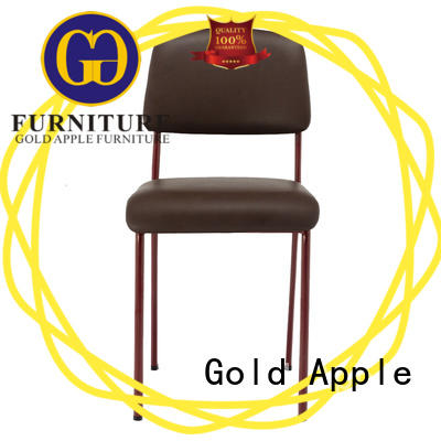 Gold Apple dining chair metal chairs with cushion modern