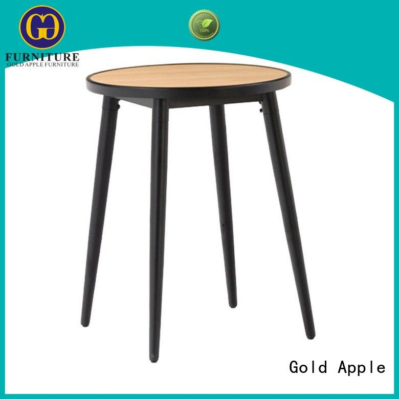 Gold Apple high-end wood dining tables for sale commercial at discount