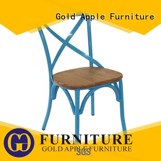 Gold Apple modern metal chairs for sale electroplated french style