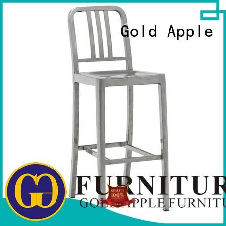 Gold Apple top-selling comfortable bar stools upholstered coffee shop furniture