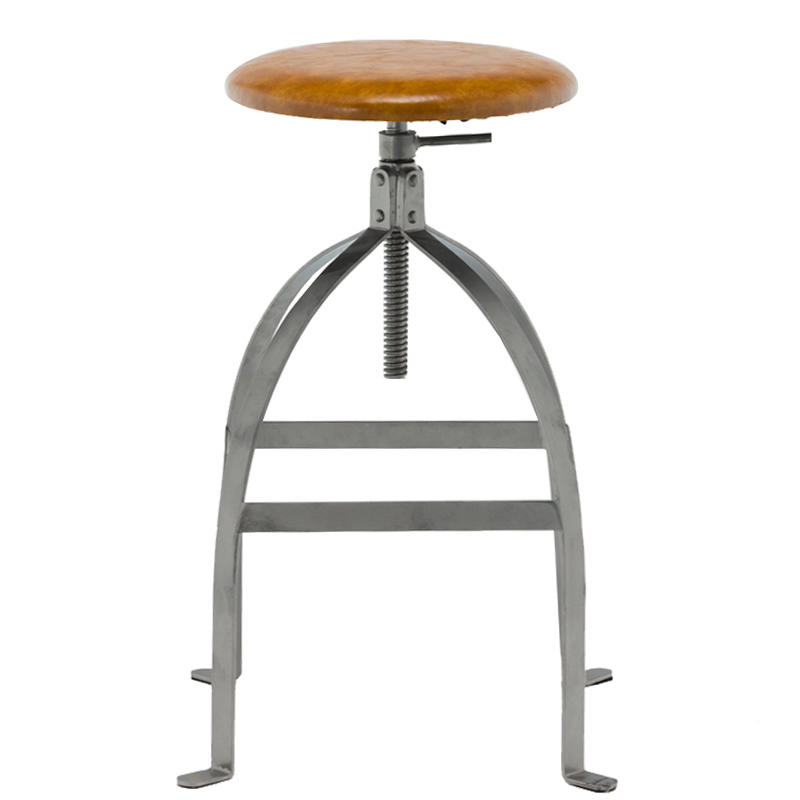 plywood wood and metal stools high-end elegant for bar-3