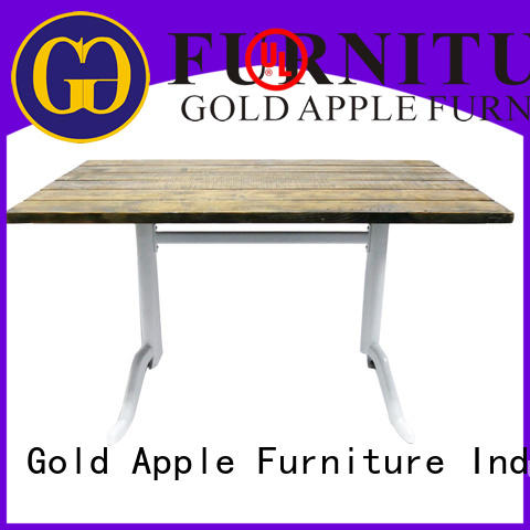 Gold Apple high-quality dark wood square dining table commercial for catering