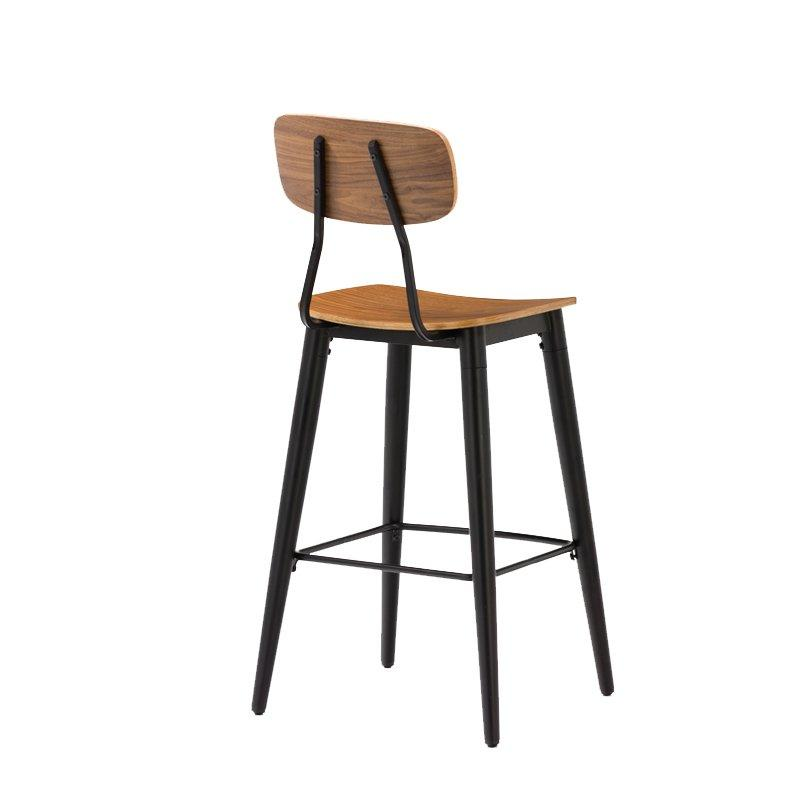 Gold Apple low-price wood top bar stools elegant with backrest-2