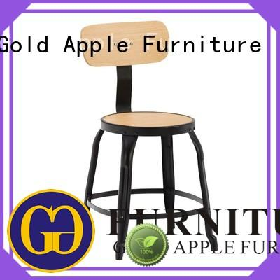 Gold Apple plywood wooden chair with armrest living room coffee shop