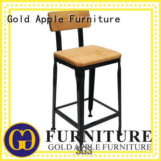 Gold Apple industrial kitchen counter stools swivel modern for restaurant