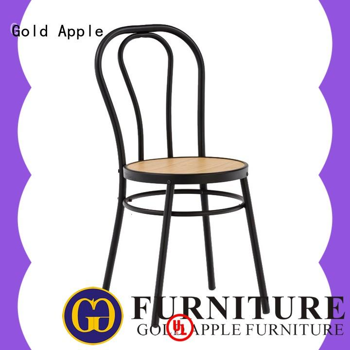 Gold Apple wooden classic wooden chairs on-sale coffee shop